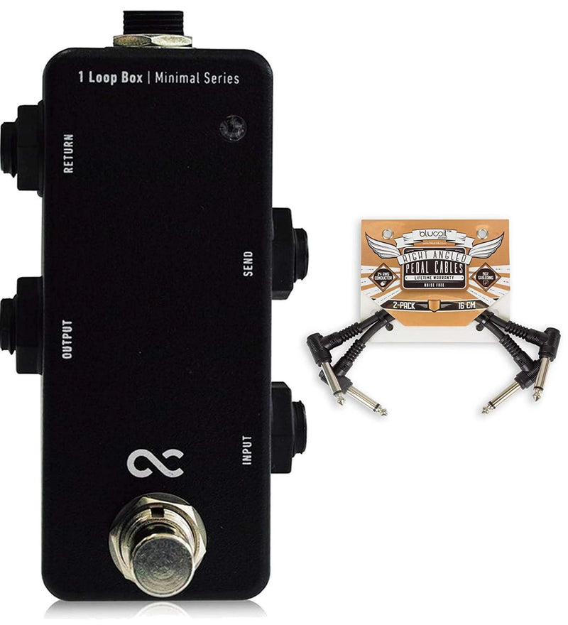 One Control 1 Loop Box Bundle with 2-Pack of Blucoil Pedal Patch Cables