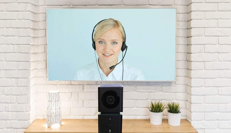 HuddleCamHD GO Video Conference Camera with Built-in Microphone and Speaker (Black) Bundle with Blucoil Mini USB Type-C Hub with 4 USB Ports