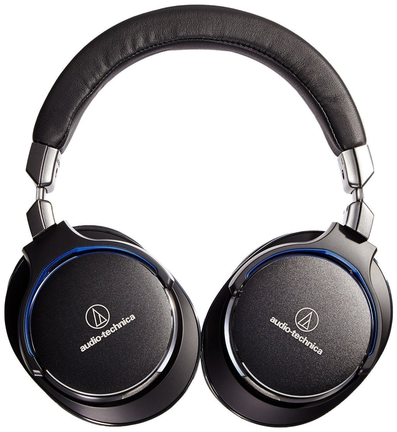 Audio-Technica ATH-MSR7GM Gun-Metal Grey SonicPro Over-Ear High-Resolution Audio Headphone Bundle with Blucoil Aqua Portable in-Line DAC Amplifier