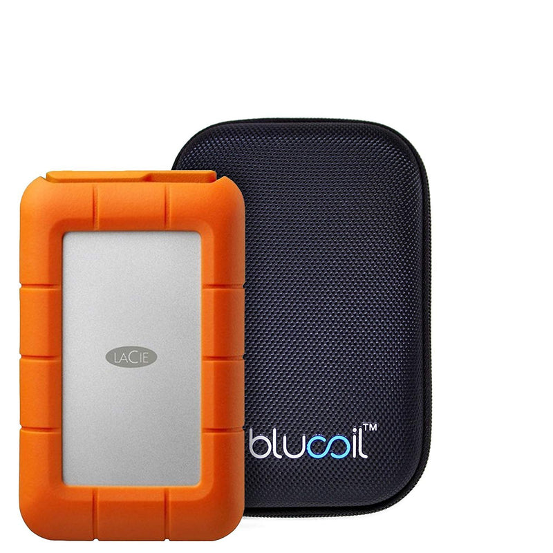 LaCie STFA4000400 Rugged RAID 4TB Mobile Hard Drive with Thunderbolt/USB 3.0 / USB 2.0 Bundle with Blucoil Portable Shockproof Hard Case
