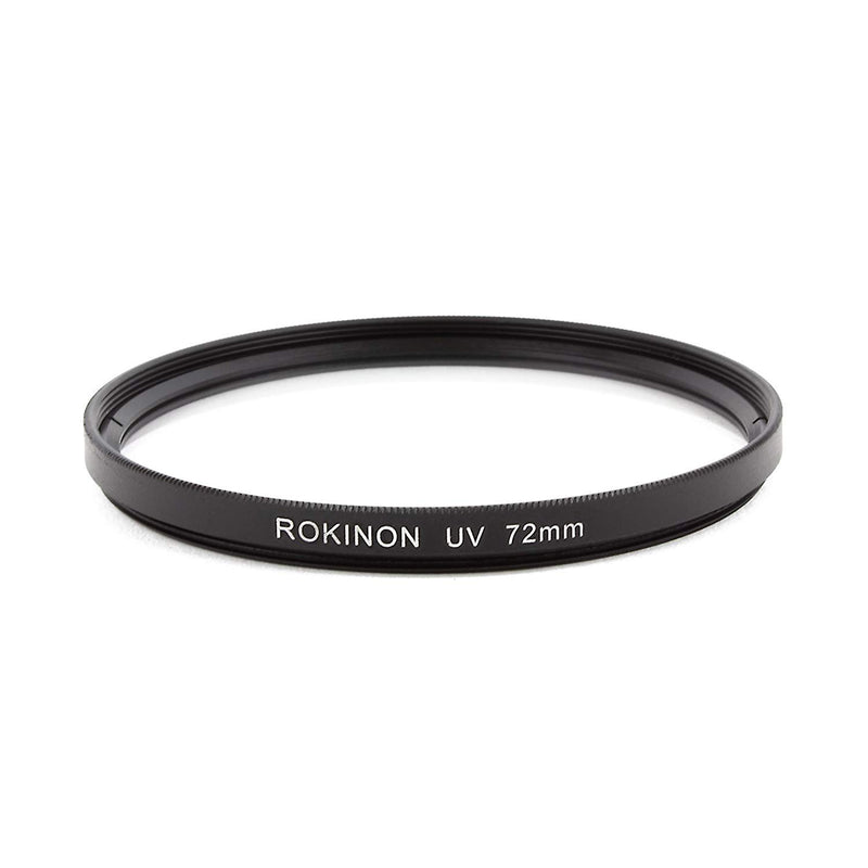 Rokinon 85M-E 85mm F1.4 Full Frame Digital Photo Lens for Sony E - with - Rokinon 72mm UV Filter and 5 Pack of Blucoil Cable Ties