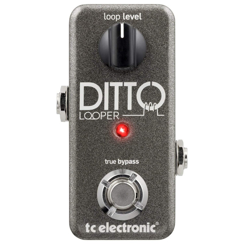 "TC Electronic Ditto Looper Effects Pedal with a pair of 6"" pedalboard patch cables"