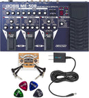 BOSS ME-50B Bass Multi-Effects Pedal Bundle with Blucoil 9V DC Power Supply with Short Circuit Protection, 4-Pack of Celluloid Guitar Picks and 2-Pack of Pedal Patch Cables