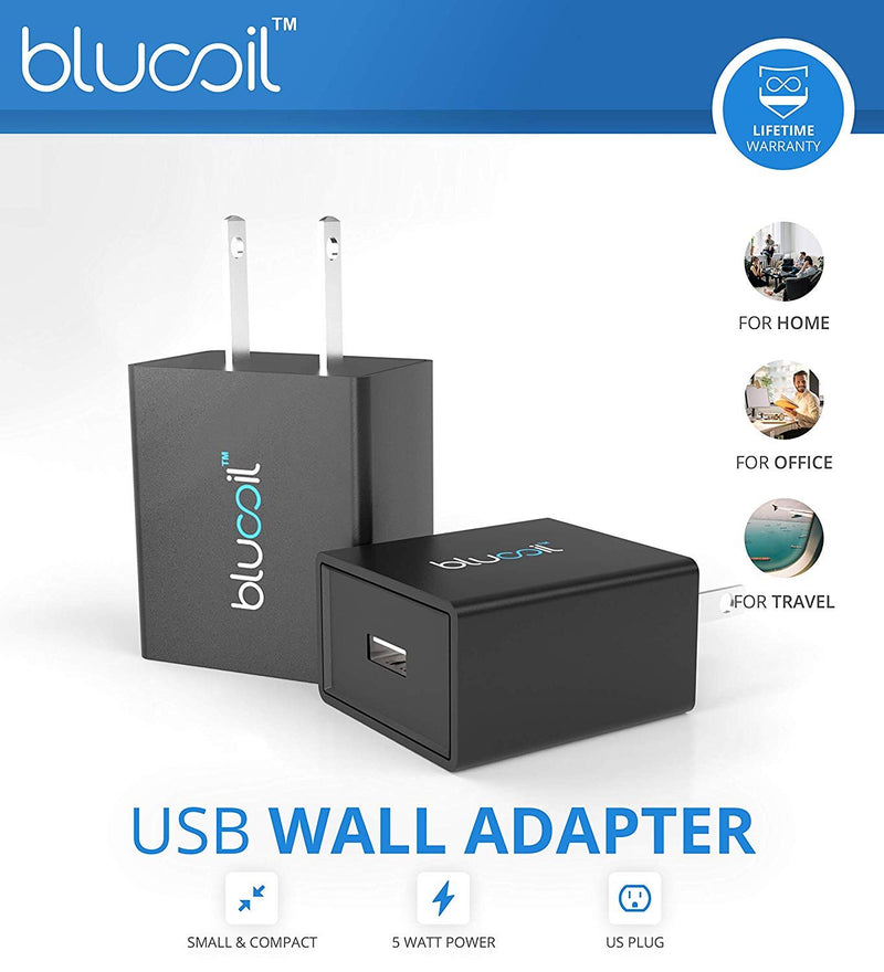 Insta360 Air 3K VR Camera Android Smartphone (Micro USB) Bundle with Blucoil USB Wall Adapter and 5-Pack of Reusable Cable Ties