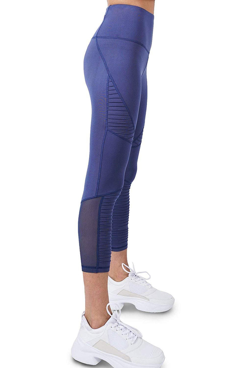 Cover Girl 7/8 Moto Leggings - Slate (M)