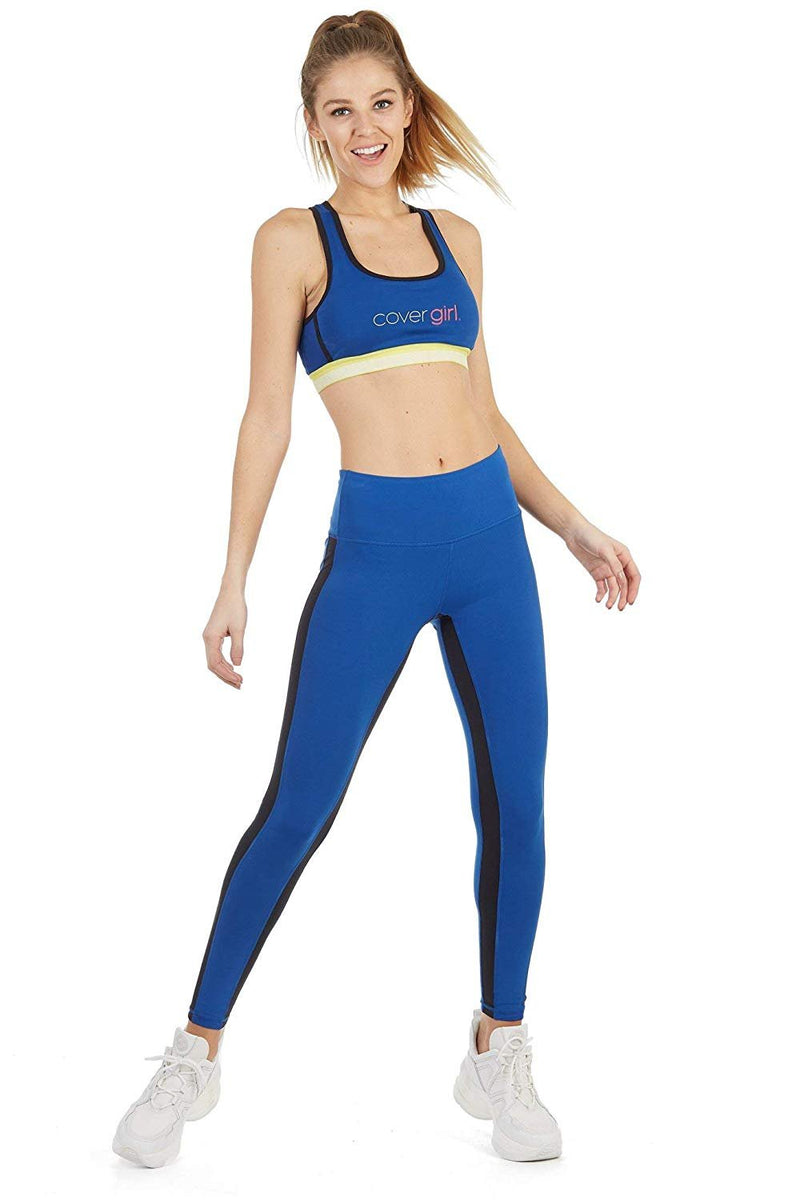 Cover Girl Women's Legging w/Contrast Stripe - True Blue