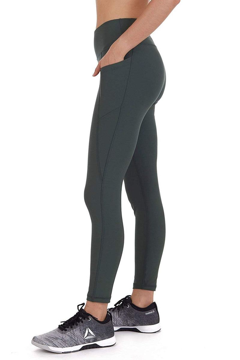 Cover Girl Leggings with Phone Pockets - Army Green (XS)