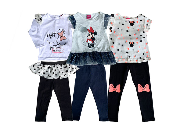 Paquete 3 Conjuntos Disney Minnie Leggings - Kiss