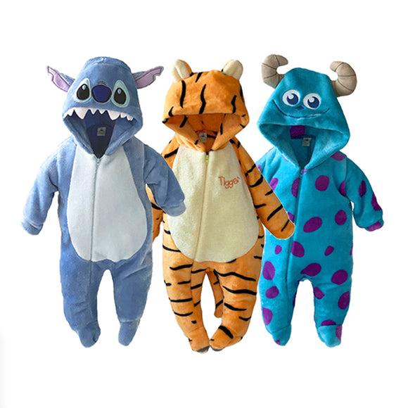 Paquete 3 Mamelucos Disney Sulley, Tigger, Stitch - Kiss