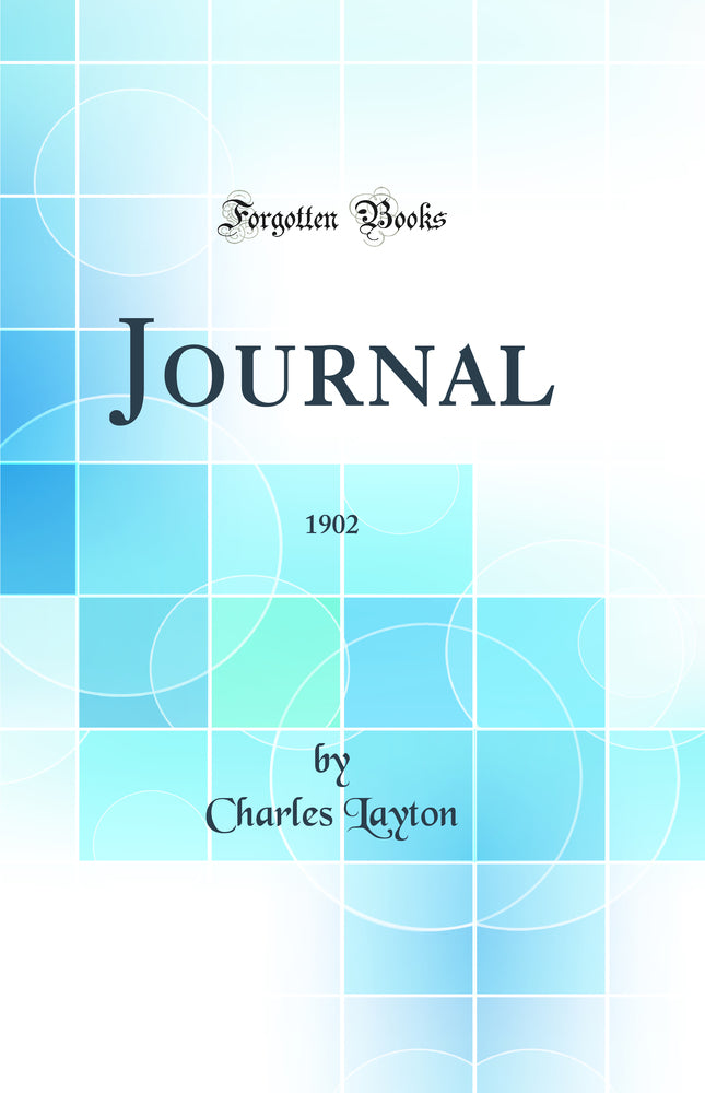 Journal: 1902 (Classic Reprint)