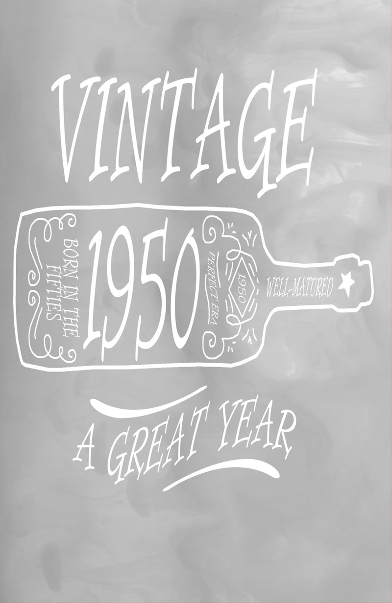 "Vintage 1950 A Great Year: 100 Pages 6"" X 9"" Journal Notebook"