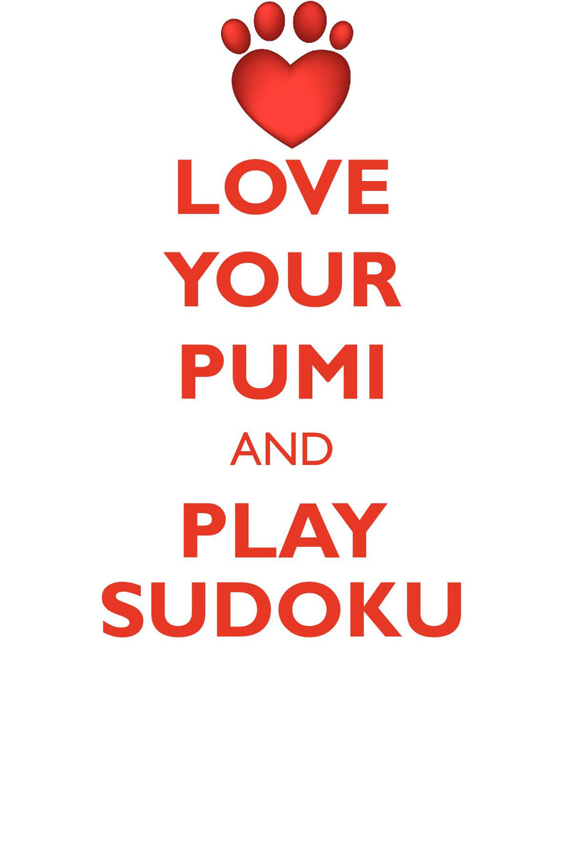 LOVE YOUR PUMI AND PLAY SUDOKU PUMI SUDOKU LEVEL 1 of 15