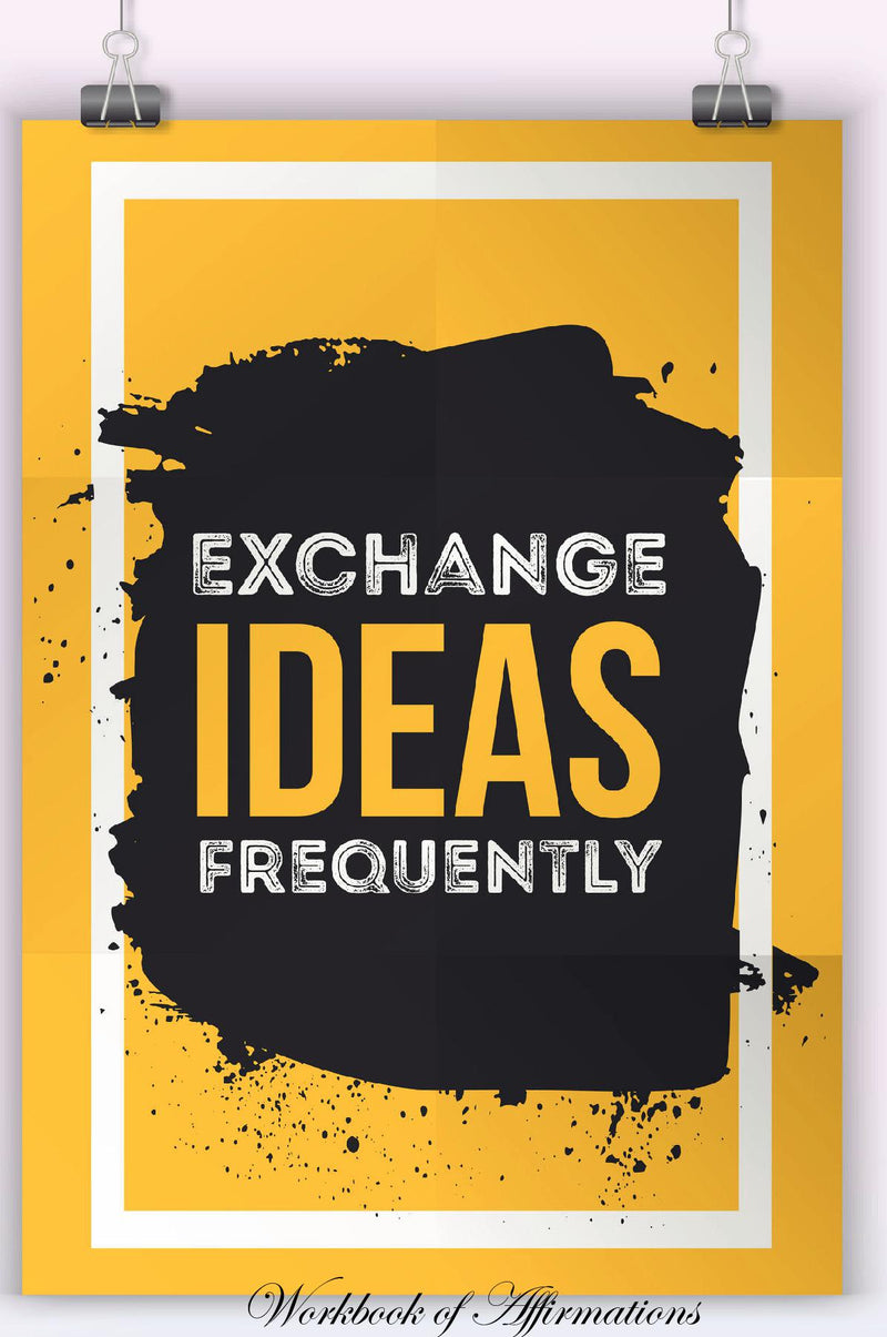 Exchange Ideas Frequently Workbook of Affirmations Exchange Ideas Frequently Workbook of Affirmations: Bullet Journal, Food Diary, Recipe Notebook, Planner, To Do List, Scrapbook, Academic Notepad