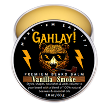Load image into Gallery viewer, GAHLAY! Vanilla Smoke Beard Oil & Balm Combo w/ FREE shipping