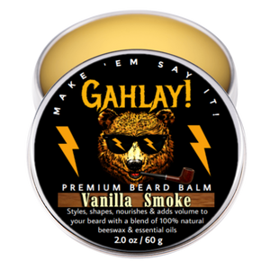 GAHLAY! Beard balm - Vanilla Smoke 2 oz. can w/ FREE shipping
