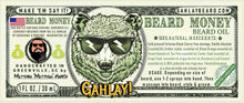 Load image into Gallery viewer, GAHLAY! Beard oil - Beard Money 1 oz bottle w/ FREE shipping & Gold Bag