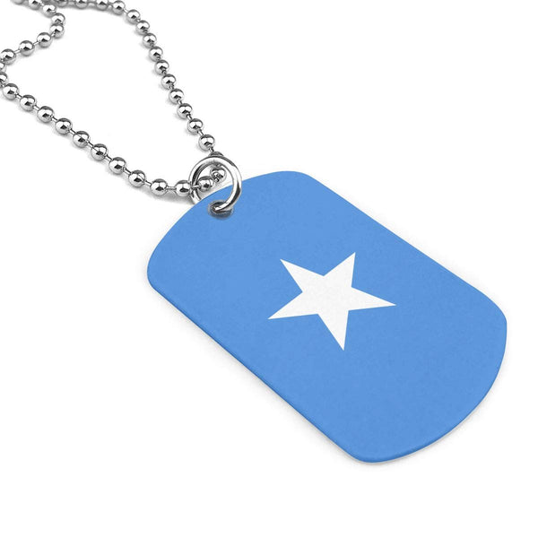 Sincerity First Unisex Army Necklace Somalia Flag Personalized Necklace Classic Dog Tags Pendant Necklace Inspirational Necklace Military Necklace Love Gift