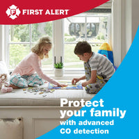 First Alert Carbon Monoxide Detector| No Outlet Required, Battery Operated, CO400