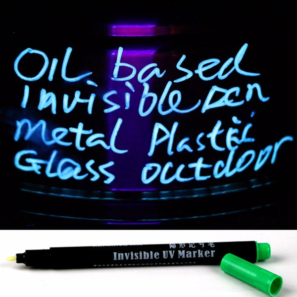 All Purpose Permanent Invisible UV Reactive Mark Ideal for Secret Message Chamber Escape Outdoor Mark Pen