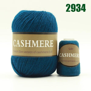 Mongolian Cashmere Hand-Knitted Yarn