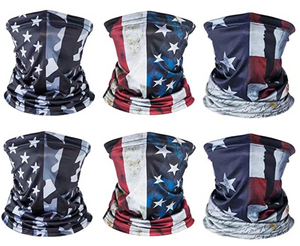 American US Flag Face Bandana