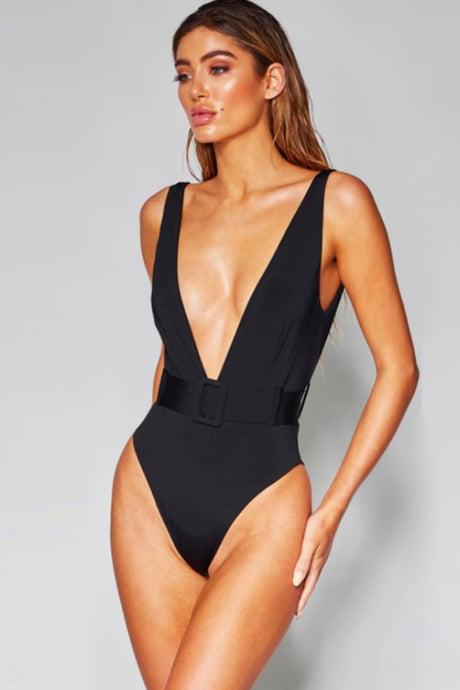 Sandy Black Bodysuit