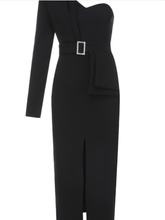 Load image into Gallery viewer, Celia Black Dress - Paola Collections
