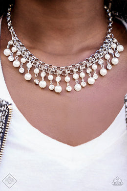 Paparazzi You May Kiss The Bride White Necklace FA1218