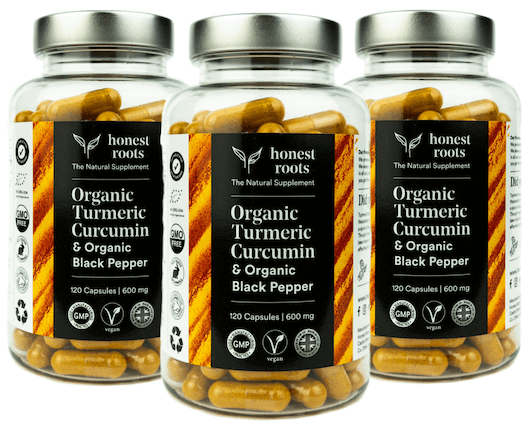 honest roots organic turmeric & black pepper supplement