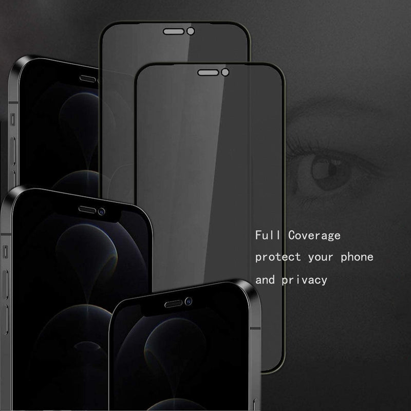 3D Privacy Carbon Fibre Screen Protector For iPhone 12 Pro