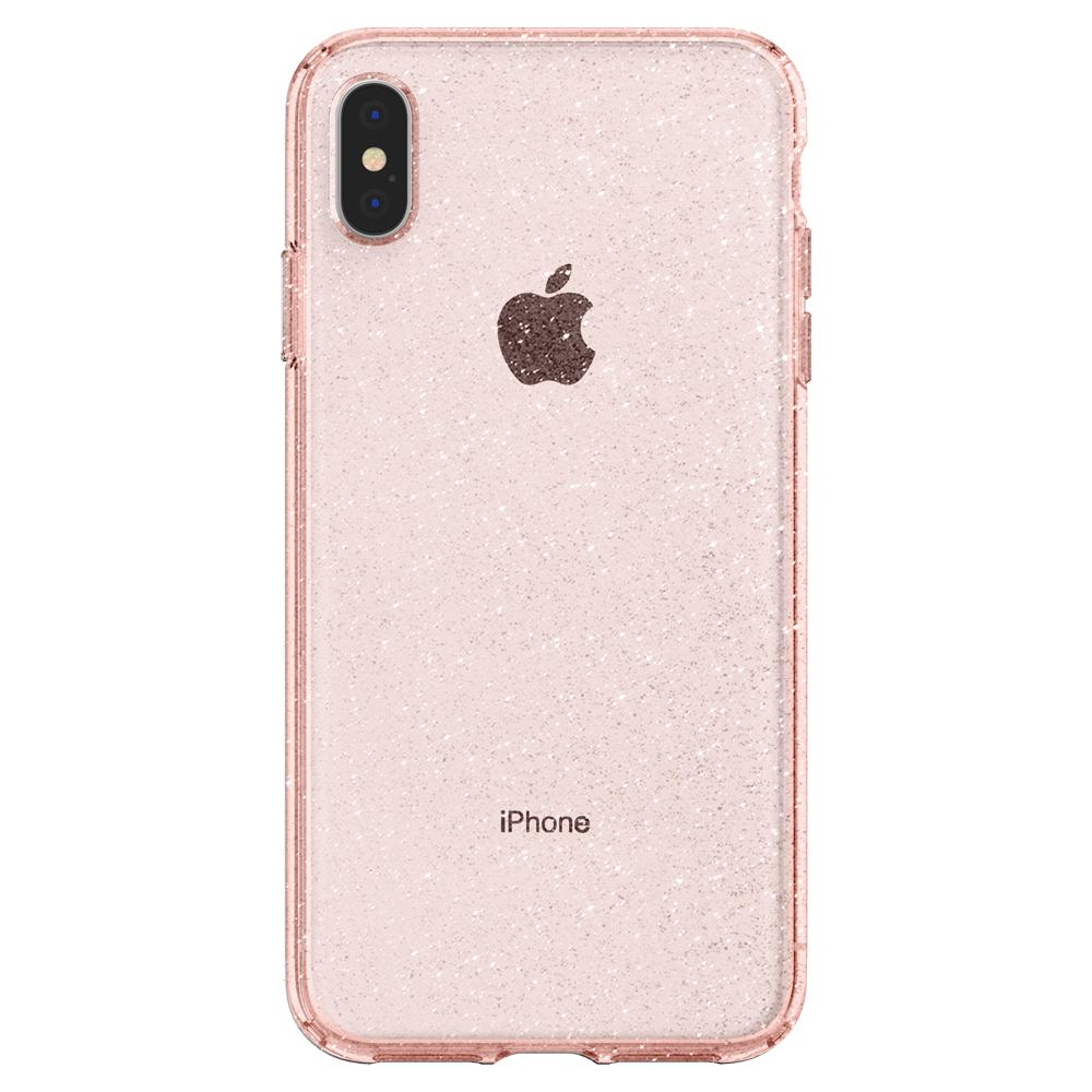 iPhone XS Max Spigen Liquid Crystal Glitter Rose Quartz Case