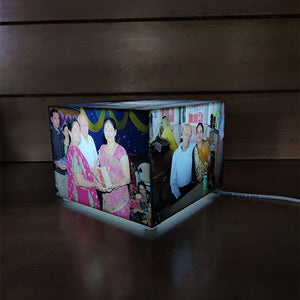 Personalized Bright Rectangle Table Top Lamp
