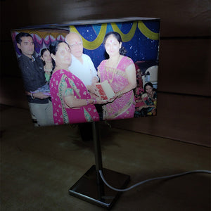 Personalized Bright Rectangle Lamp With Stand