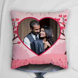 Personalized Cushion Pink Heart Design