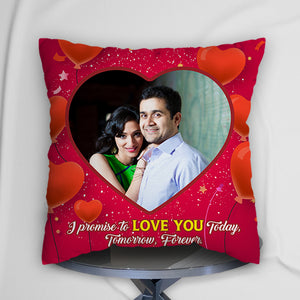 Personalized Cushion Red Heart Design
