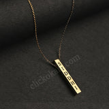 Personalized Metal Bar Pendent