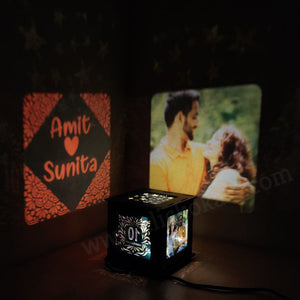 Customize Wooden Photo Anniversary Shadow Box