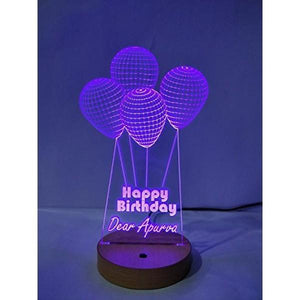 Happy Birthday 3D Acrylic Lamp