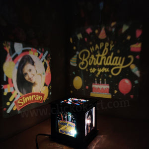 Customize Wooden Birthday Photo Shadow Box