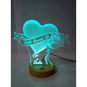 Happy Married Life 3D Acrylic Lamp