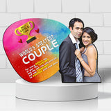 Customized Wooden Led Cut Out Best Couple
