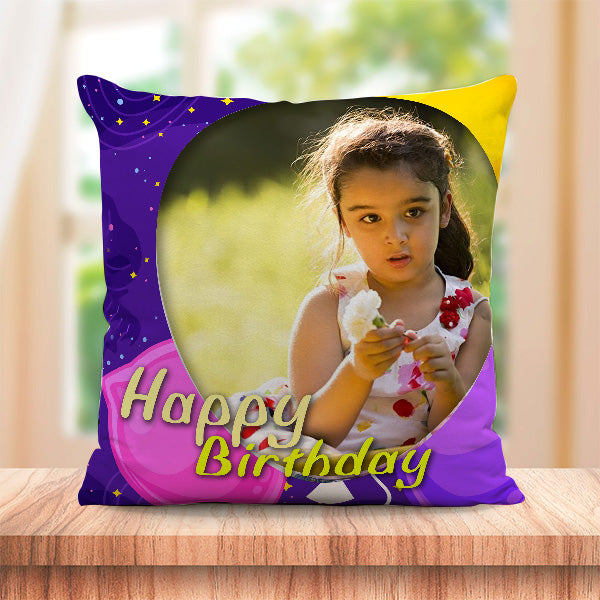 Personalized Happy Birthday Cushion Full Print