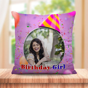 Personalized Birthday Girl Cushion