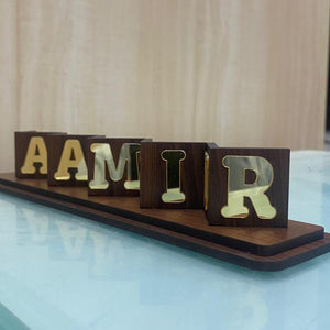 Customized Wooden Name Flip