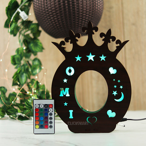 Alphabet O Wooden Multi Color Led Name Board