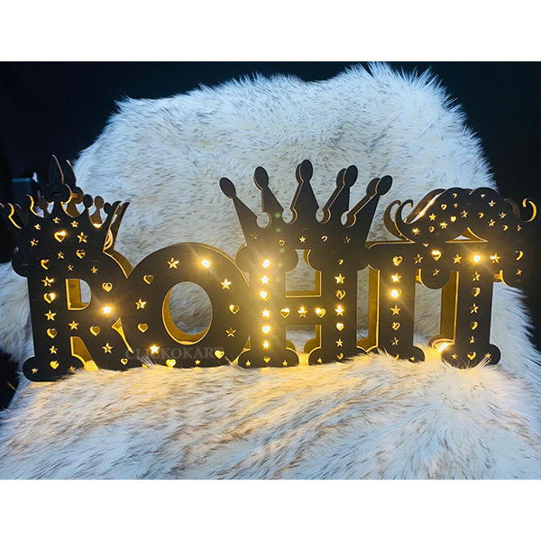 Customized Full Name Wooden LED Board