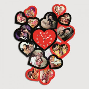 Personalized Heart Clock With 14 Photos