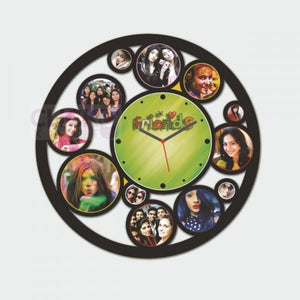 Personalized Friends Clock With 12 Photos