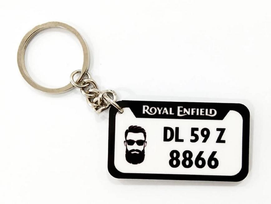 Number Plate Key chain
