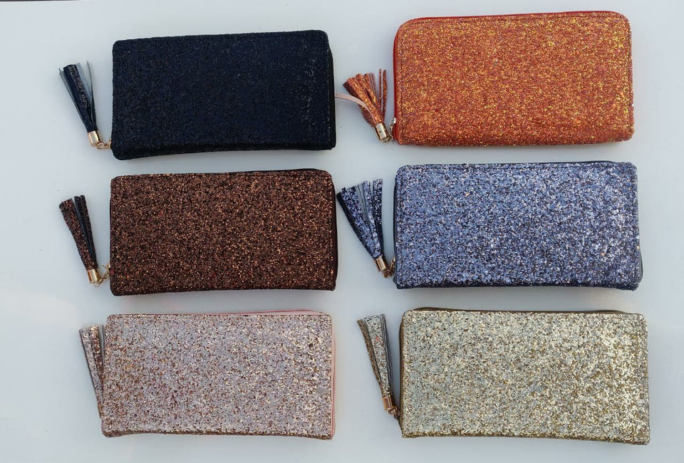 Glitter Clutch with Personalized Name